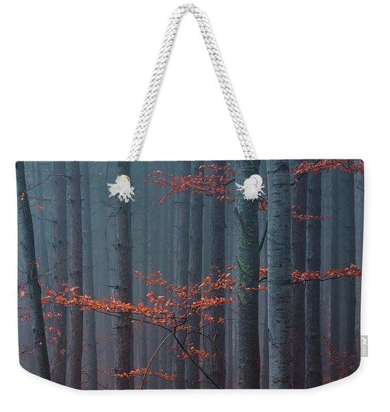Red Wood Weekender Tote Bag