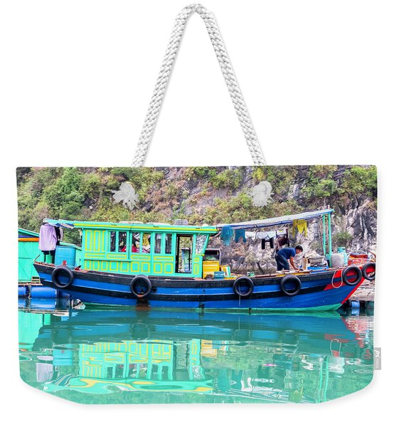 Reflections In Halong Bay, Vietnam Weekender Tote Bag