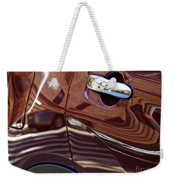 Reflection On A Parked Car 22  Weekender Tote Bag