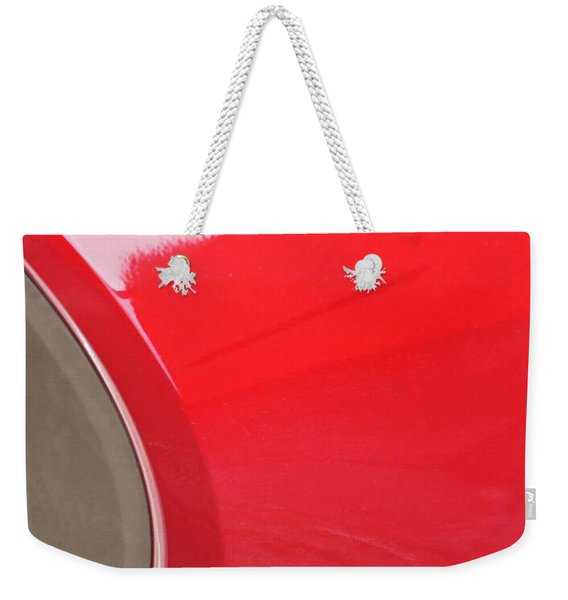 Reflection On A Parked Car 23  Weekender Tote Bag