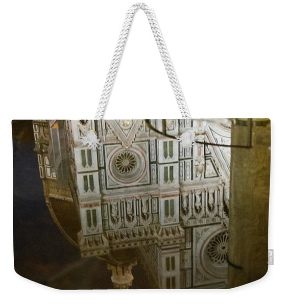 Reflections El Duomo The Florence Italy Cathedral Weekender Tote Bag