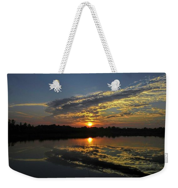 Reflections Of The Passing Day Weekender Tote Bag
