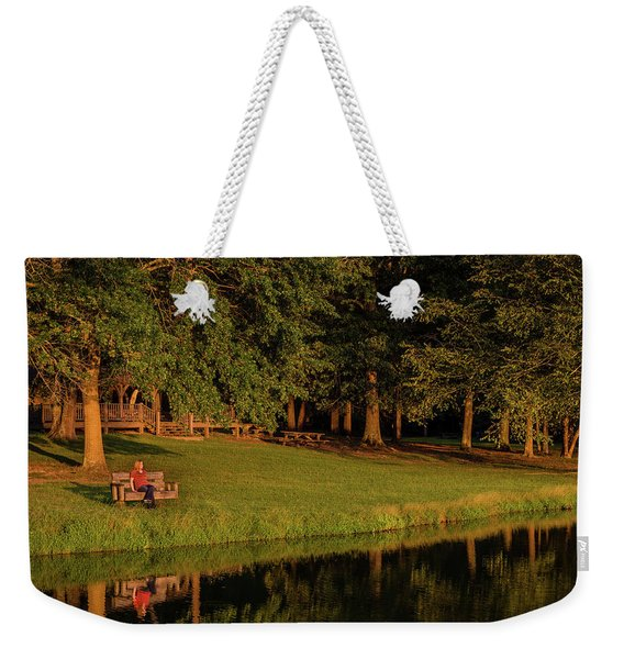 Reflective Contemplation Weekender Tote Bag