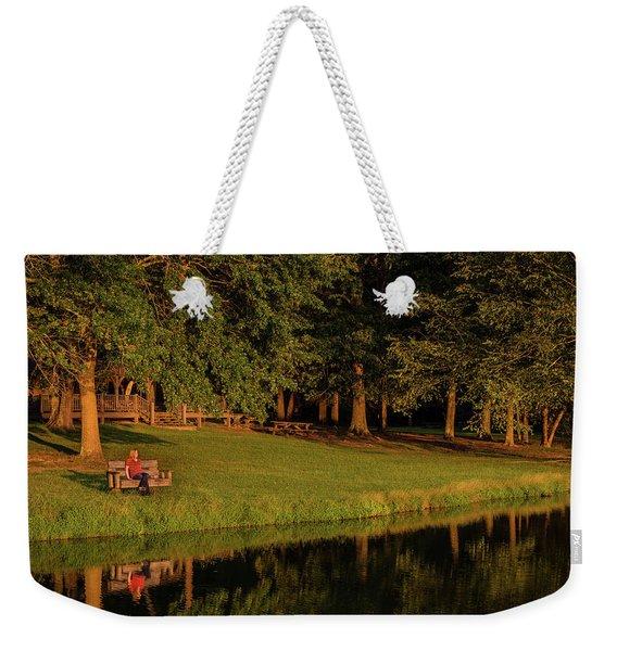 Reflective Contemplation Weekender Tote Bag