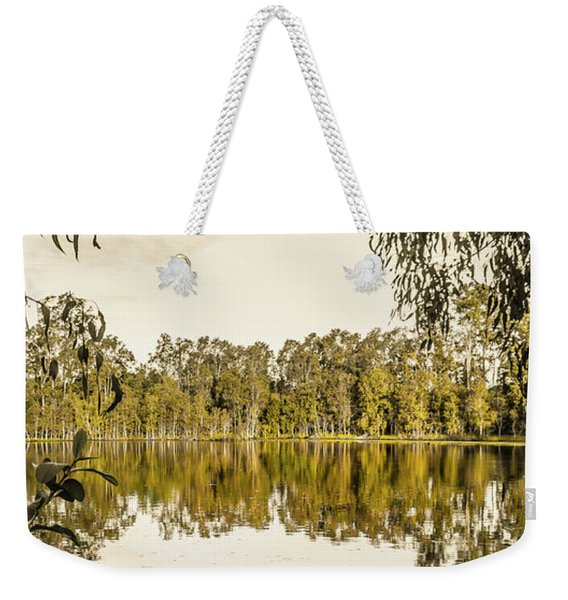 Reflective Rivers Weekender Tote Bag
