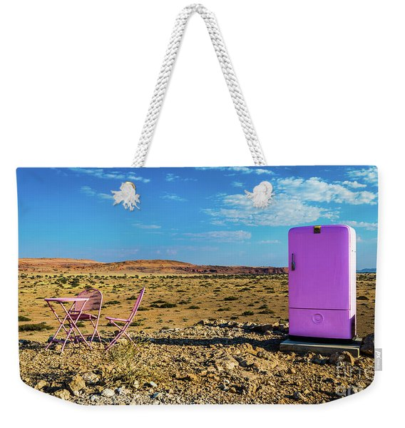 Refreshments Pit Stop In The Middle Of Nowhere Weekender Tote Bag