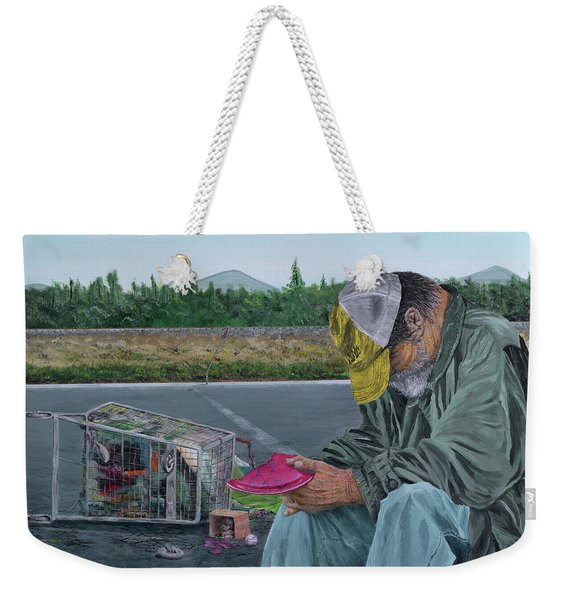 Weekender Tote Bag featuring the painting Regret by Kevin Daly