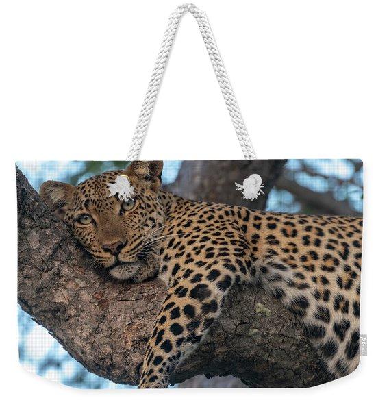 Relaxed Leopard Weekender Tote Bag
