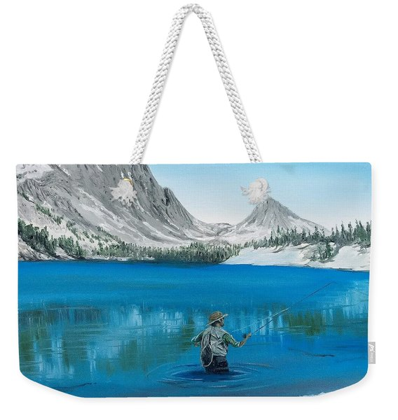 Weekender Tote Bag featuring the painting Relaxing At Skelton by Kevin Daly