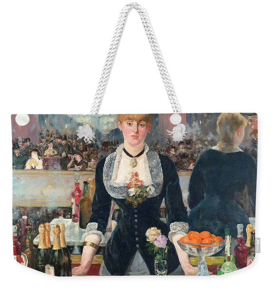 Remastered Art A Bar At The Den Folies Bergere By Edouard Manet 20190309 Weekender Tote Bag