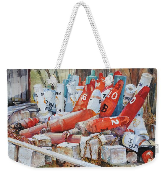 Resting Channel Markers Weekender Tote Bag