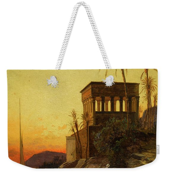 Resting Near The Pyramids Of Giza Weekender Tote Bag