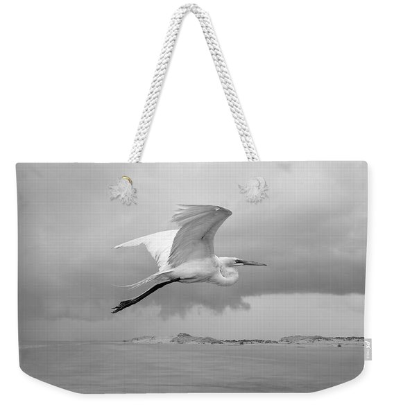 Retreat From Coming Storm Weekender Tote Bag