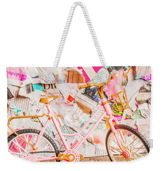 Retro City Cycle Weekender Tote Bag