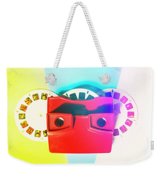 Retro Reel Weekender Tote Bag