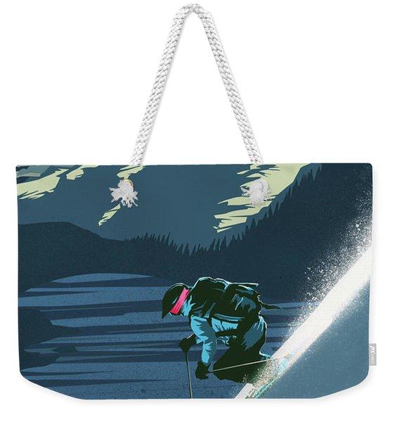 Retro Revelstoke Ski Poster Weekender Tote Bag