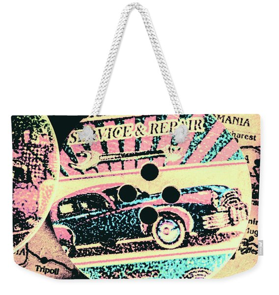 Retro Roadvival Weekender Tote Bag