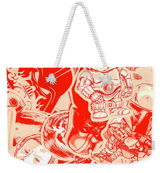 Retro Wars Weekender Tote Bag