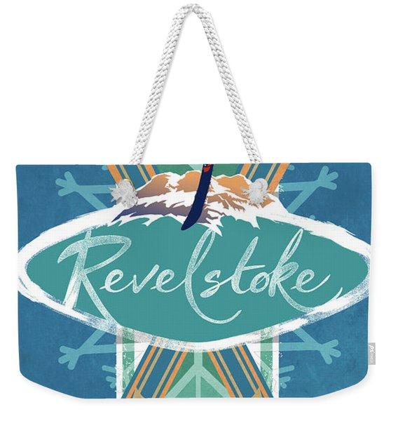 Revelstoke Ski Poster Weekender Tote Bag