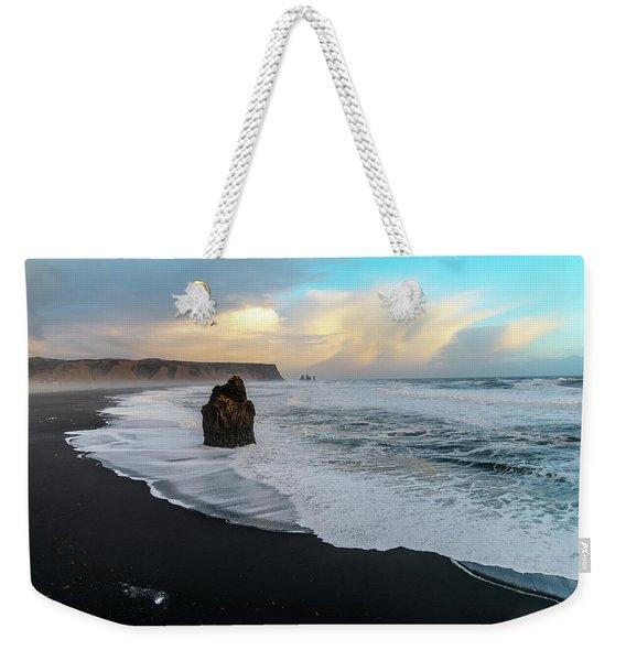Reynisfjara Beach At Sunset Weekender Tote Bag