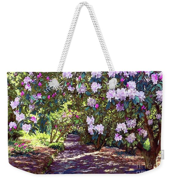 Rhododendron Garden Weekender Tote Bag