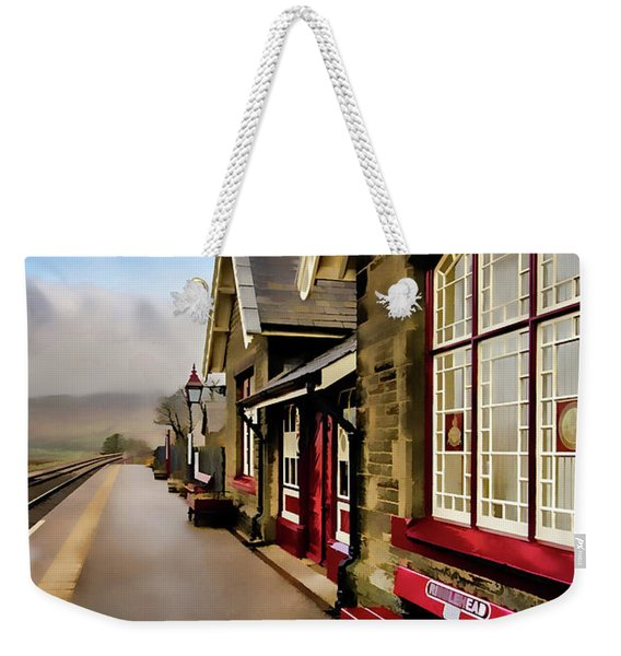 Ribblehead Railway Station Digital Painting Weekender Tote Bag