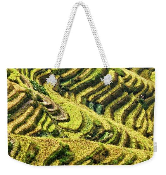 Rice Terraces In China Weekender Tote Bag