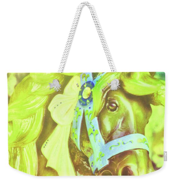 Weekender Tote Bag featuring the photograph Ride Of Old Green by JAMART Photography