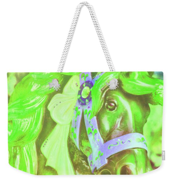 Weekender Tote Bag featuring the photograph Ride Of Old Greens by JAMART Photography