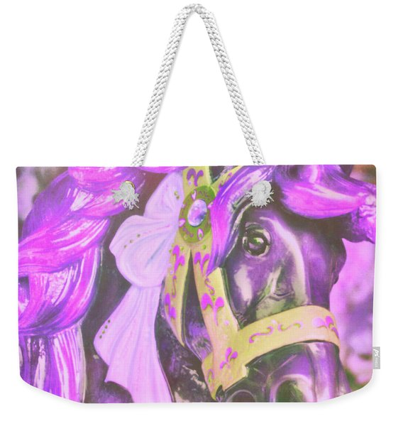 Weekender Tote Bag featuring the photograph Ride Of Old Purples by JAMART Photography