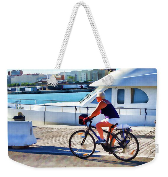 Riding Through The Dock Weekender Tote Bag