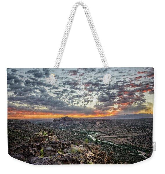 Rio Grande River Sunrise 2 - White Rock New Mexico Weekender Tote Bag