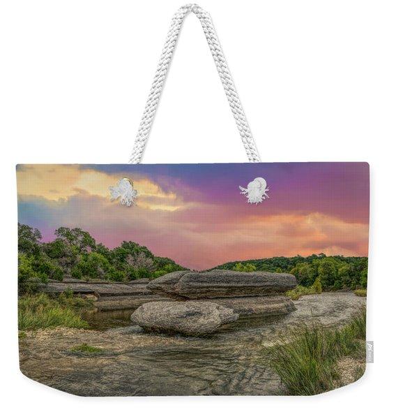 River Erosion At Sunset Weekender Tote Bag