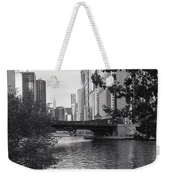 River Fence Weekender Tote Bag