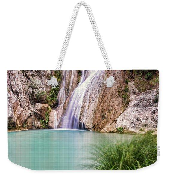River Neda Waterfalls Weekender Tote Bag