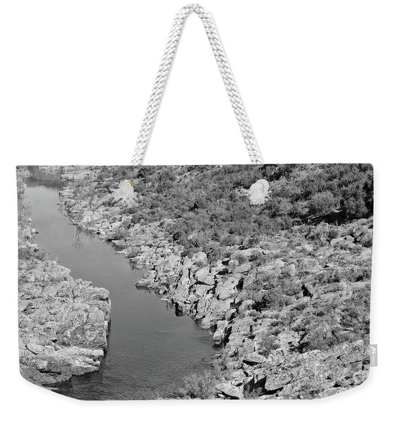 River On The Rocks. Bw Version Weekender Tote Bag