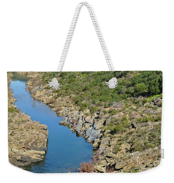 River On The Rocks. Color Version Weekender Tote Bag