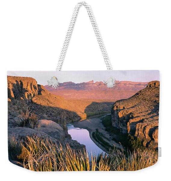 River Passing Through Mountains, Big Weekender Tote Bag