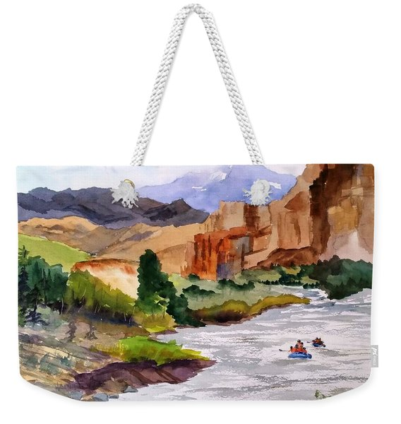 River Rafting In Montana Weekender Tote Bag