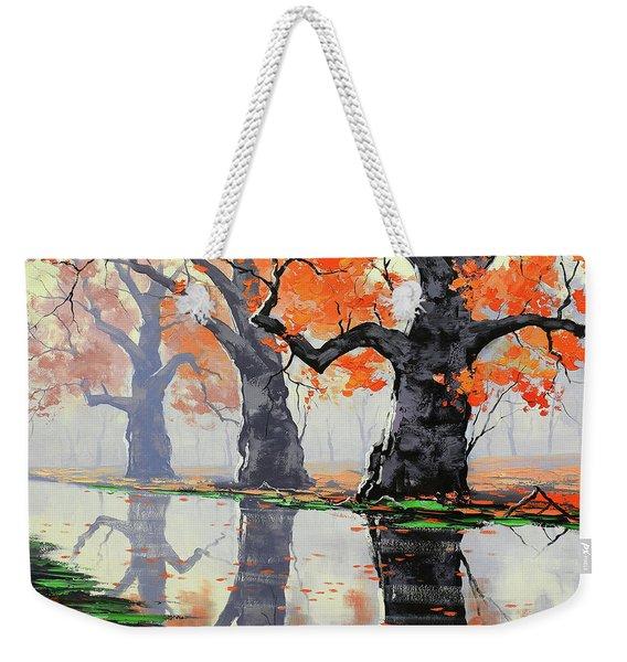 Riverside Trees Weekender Tote Bag