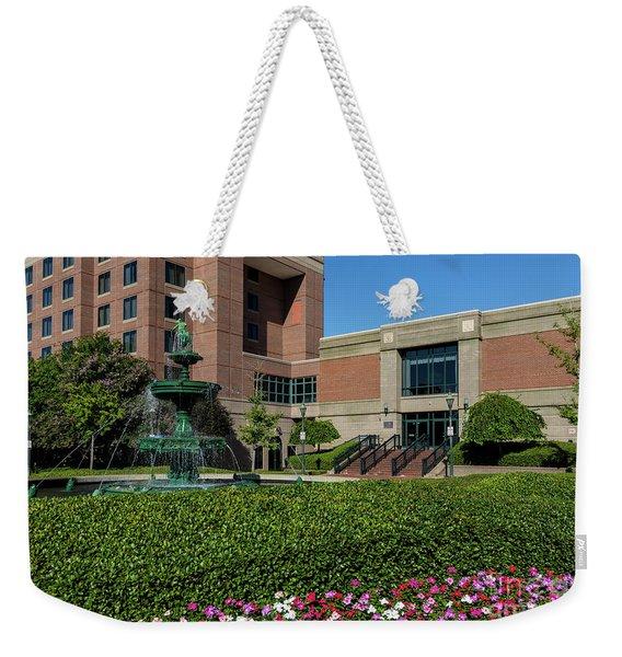 Riverwalk Augusta Ga Fountain Weekender Tote Bag
