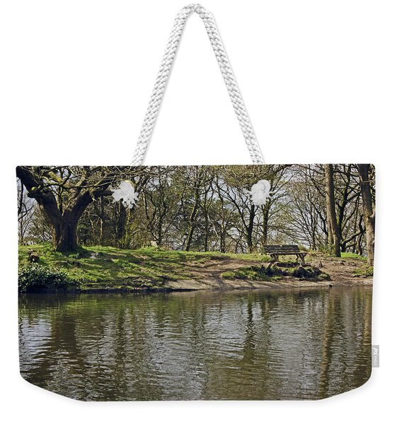 Rivington  Japanese Pool Bench. Weekender Tote Bag