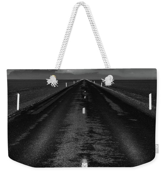 Road One, Iceland Weekender Tote Bag