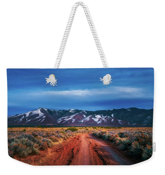 Road To Sangre De Cristo Mountain Range Weekender Tote Bag
