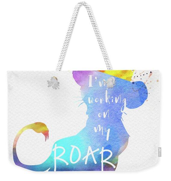 Roar Quote The Lion King Watercolor Weekender Tote Bag
