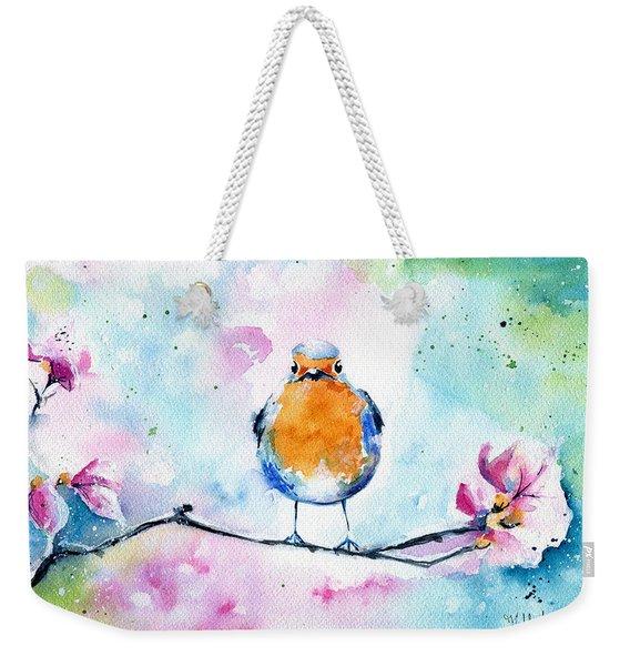 Robin Weekender Tote Bag