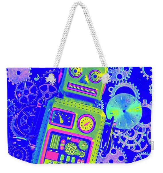 Robot Reboot Weekender Tote Bag