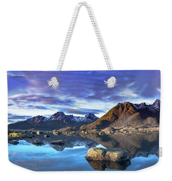 Rock Reflection Landscape Weekender Tote Bag