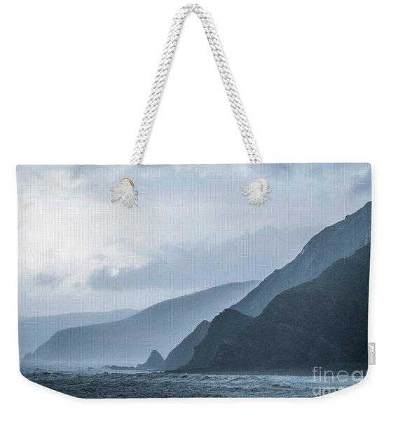 Rocky Coastline In West Wales Weekender Tote Bag