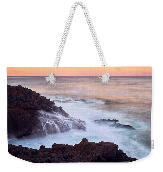 Weekender Tote Bag featuring the photograph Rocky Creek by Whitney Goodey